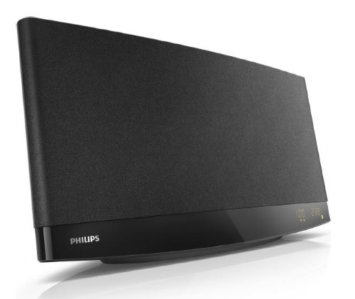 Philips MCM2250/12 Mini Stereoanlage mit CD/MP3-Wiedergabe (20 W RMS, USB Direct, Bassreflex, Wandmontage), schwarz -