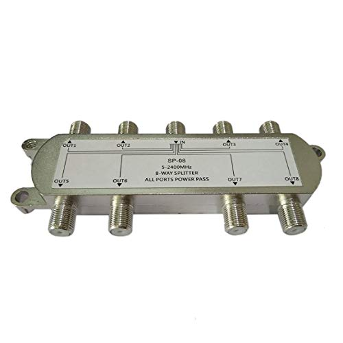 SP-08 8-Wege-Signal Satellitensplitter TV Antenne RF Koaxialkabel Splitter WholesaleHot Neue Ankunft (Farbe: Silber) - Low Loss Rf Splitter