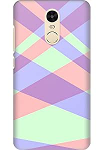Amez designer printed 3d premium high quality back case cover for Xiaomi Redmi Note 4 (Line intersection background texture)