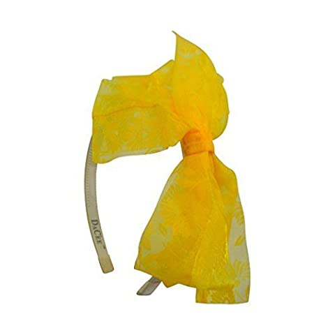 Yellow Bow Headband with Sunflower Ribbon Bow Hair Band (Dacee Designs) by DaCee Designs Accessories