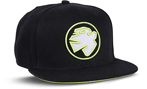 Rebel by Nature RC1 - Snapback Cap Logo Mütze Unisex Kappe Hat Sport Baseball 100% Acryl - Collection No1-6Panel ORIGINAL Rebel (NEON-Black)