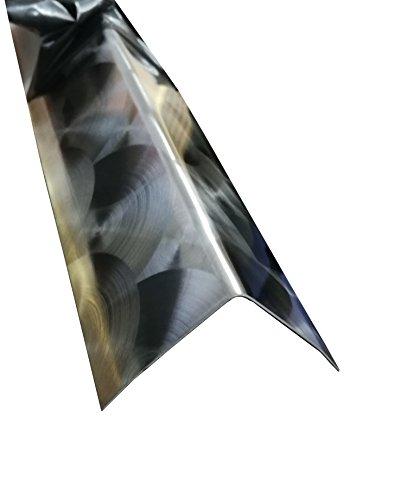 Kantenschutzprofil 3-fach gekantet L-Profil Eckwinkel 2 Meter lang (5 x 5 cm, Marmoriert D50)