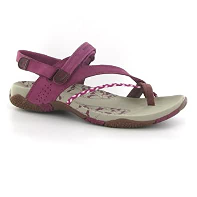 Merrell Siena Raspberry Suede Womens Sandals Size 8 UK