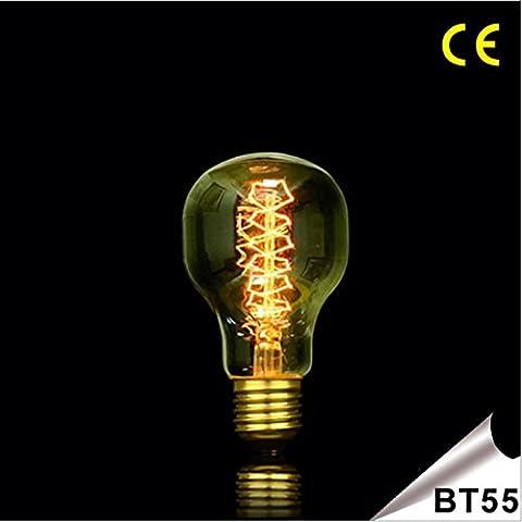 Fx@ E27 25W BT55 Edison bombillas incandescentes / bombilla de Edison retro doble espiral , 25w