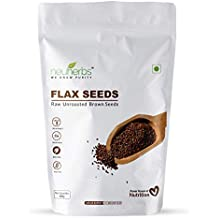 Neuherbs Raw Unroasted Flax Seeds with Fiber and Omega-3 Rich - Gluten Free, 400 g