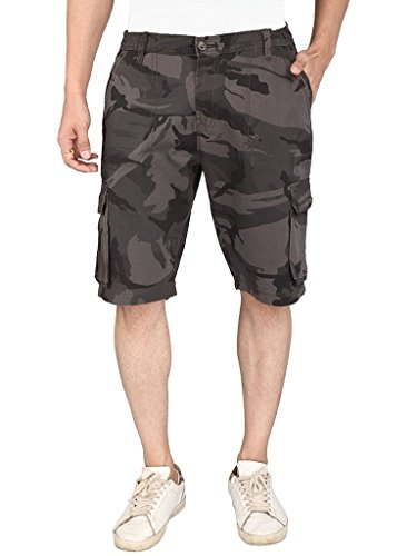 Krystle Men's Camo/Army Printed Cargo Shorts-36