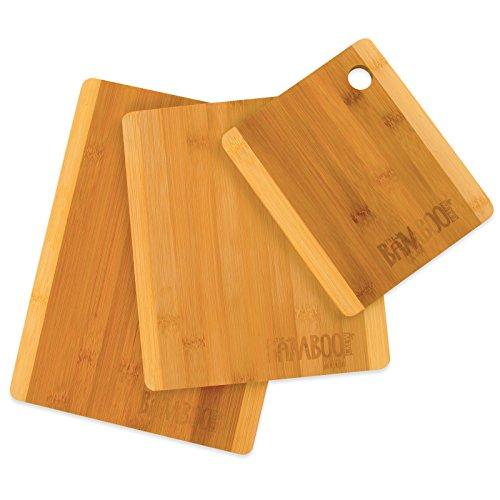 The Bamboo Crew Set di 3 taglieri da cucina in legno – tagliere ...