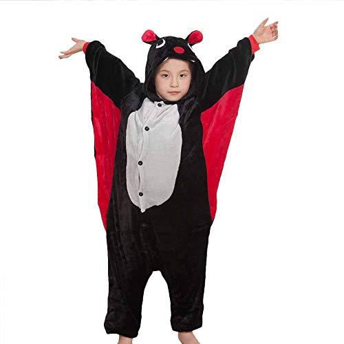 Tickos unisex bambini animale onesies divertente pipistrello pigiama pajama halloween vestito operato tute (110cm, pipistrello)