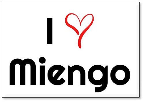 Mundus Souvenirs - Amo Miengo, Imán para Nevera (diseño 3)