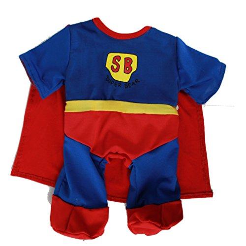 Superman SUBÄRMAN Outfit - 25cm - Teddybär-Klamotten - (Outfits Superman)