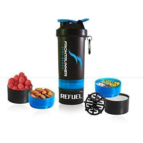 FrontRunner Fitness Premium Refuel Shaker - Hungry Wolf Series - Protein Shaker - Water Bottle - 800mL