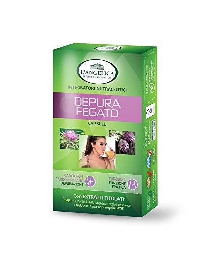 L'Angelica Depura Fegato, Pacco da 40 capsule, Totale: 21.8 gr