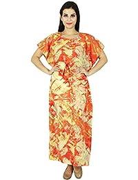 Phagun Caftan Ropa Impreso Maxi ropa de dormir de algodón largo de Bohemia Kaftan