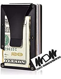 ea8c46bf90 MDM TECHNOLOGY Porta Carte di Credito Blocco RFID Fermasoldi Mini Portafoglio  Uomo con Confezione Regalo Porta Tessere in Acciaio Fino…