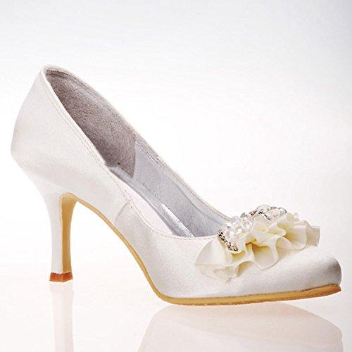 Kevin Fashion ,  Damen Modische Hochzeitsschuhe Elfenbein