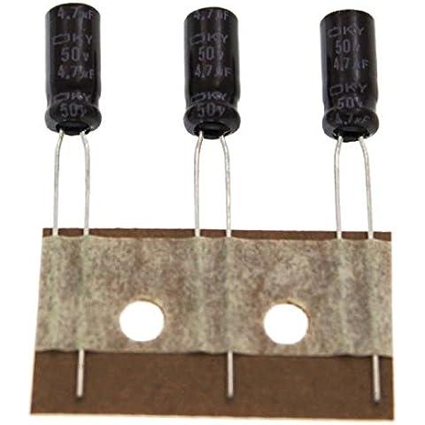 50x Elettrolitici Condensatore rad. 4,7µF 50V 105°C ; EKY500ETD4R7ME11D ;