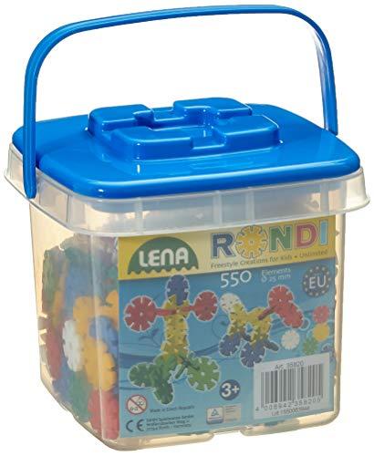 SIMM Spielwaren Lena 35820 - Kit de Bricolage Rondi 25 mm dans Le Seau avec 550 pièces