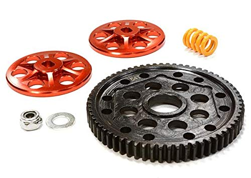 Integy RC Model Hop-ups C26144RED Billet Machined Steel Spur Gear Conversion Kit for Axial 1/10 Yeti Rock Racer - Rc-kit Yeti