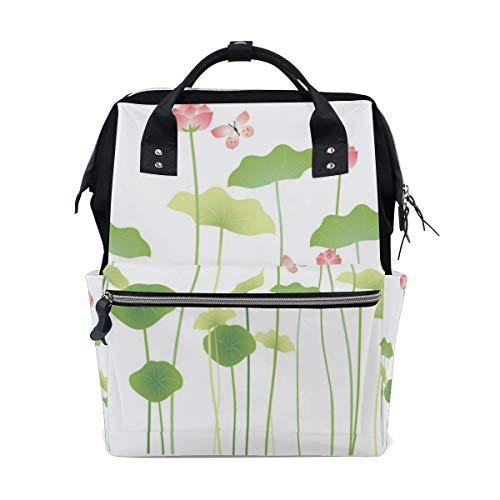 Green Lotus Leaf Clean Komfortable Große Kapazität Wickeltaschen Mama Rucksack Multi Funktionen Windel Pflege Tasche Tote Handtasche Für Kinder Babypflege Reise Täglichen Frauen