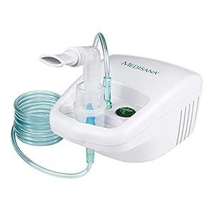Medisana IN 500 Inhalator/Vernebler mit extra langem Schlauch (2m) – Inhalation bei Erkältungen oder Asthma – mit umfangreichem Zubehör – 54520