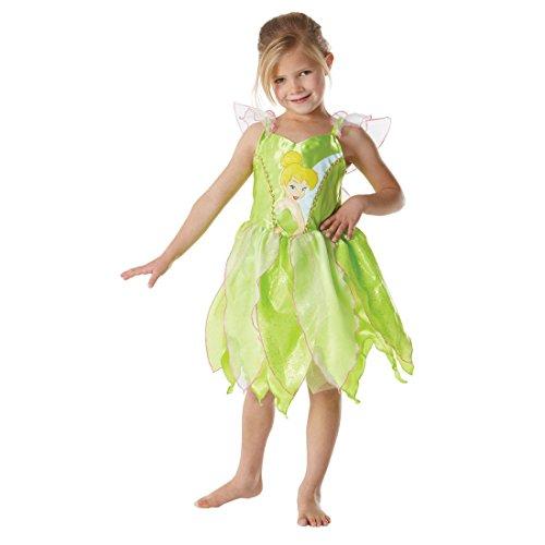 tüm Feenkostüm Tinker Bell grün L 7-9 Jahre Elfe Märchenkostüm Disney Feenkostüm Glöckchen Kostüm (Disney Tinker Bell Kostüm)