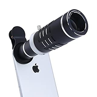 Cell Phone Lens Kit with Universal Clip for iPhone, Samsung, HTC and Most Smartphone (18Black)