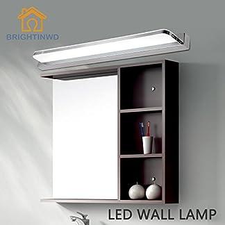 Lightess Lámpara de Baño Lámpara de Espejo Lámpara Moderna de 9W, Hace la Luz Frente al Espejo del Baño, Blanco Frío