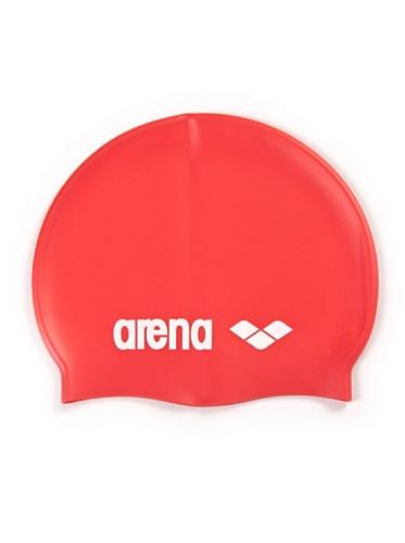 Arena classic silicone jr cuffia rosso/bianco