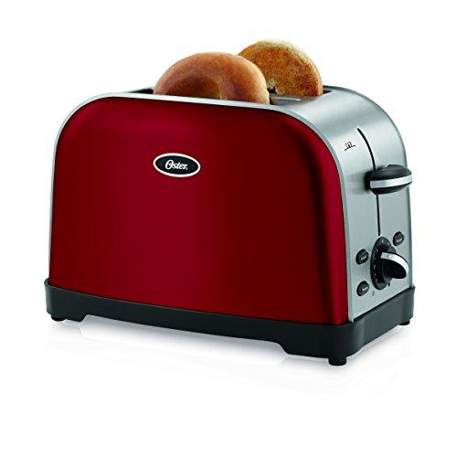 Oster TSSTTRWF2R Brushed 2-Slice Toaster, Red