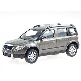 Skoda Yeti matto braun Modellauto 143AB-014YI Abrex 1:43