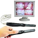 KLI Telecamera intraorale Dentale Endoscopio Fotografia di Denti Periscopio Orale Macchina Fotografica per ispezione Strumenti dentali per PC Laptop Software di Imaging per Laptop Incluso,Black