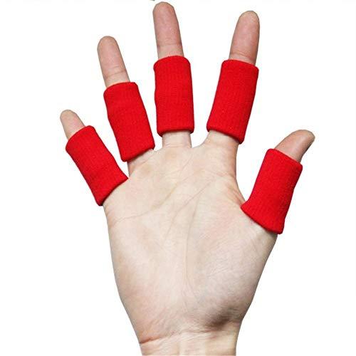 WLIXZ Erwachsene Finger-Klammer-Schiene-Hülse, Daumen-Stützschutz, weiches bequemes Kissen-Druck sichere elastische Breathable Stabilisatoren,Red