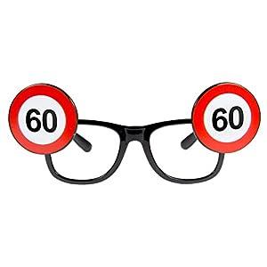 Folat 24960 60 - Gafas de cumpleaños, diseño de señal de tráfico, multicolor