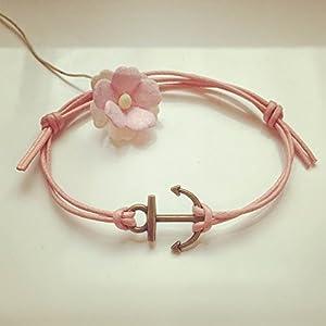 Anker Armband in Rosa Bronze Größenverstellbar, anchor / maritim / vintage / ethno / hippie / must have / statement / florabella schmuck