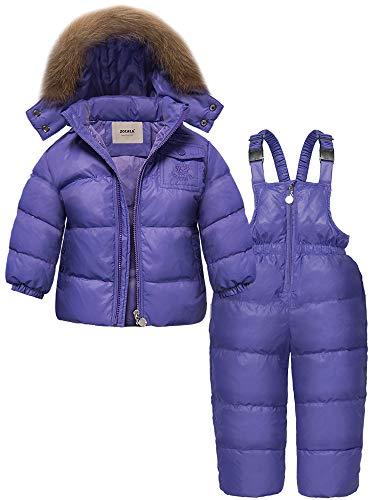 ZOEREA Chaqueta de esquí para niño Chaqueta niña abrigos niño Pantalones de nieve Ropa de invierno Set