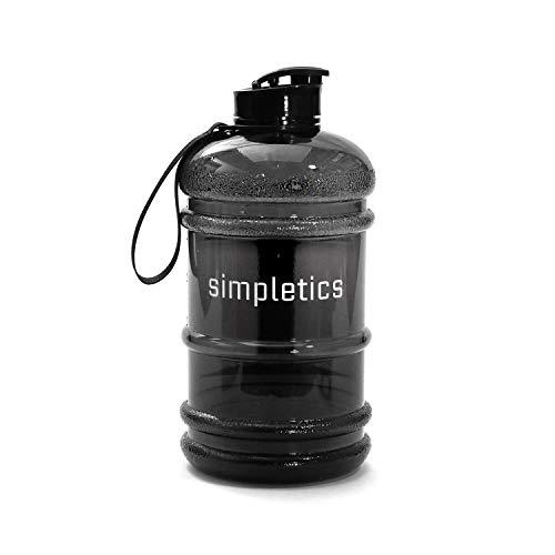 Simpletics Trinkflasche 2,2l SPÜLMASCHINENFEST - Die Wasserflasche für Sport, Camping und Bodybuilding - BPA-frei, stabil und auslaufsicher -