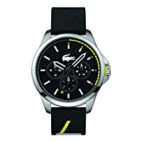 Lacoste Men's Black Dial Silicone Band Watch - 2010978
