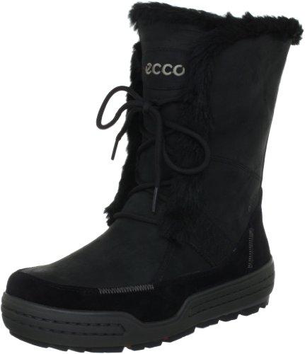 Ecco Siberia Oil Suede/Madrone 852523 Damen Stiefel Schwarz (Black/Black/ Nubukleder 51707)