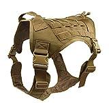 Egurs Tactical Dog Training Molle Weste Militär Hundegeschirr Camouflage Jacke für Outdoor-Aktivitäten braun XL