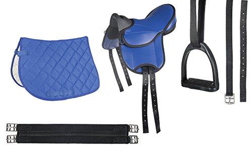 HKM Shettysattel-Set -Beginner-, blau
