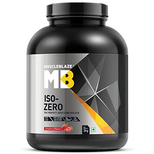 Muscleblaze Iso-zero Zero-carb 100% Whey Protein Isolate (Strawberry, 2 Kg / 4.4 lb)