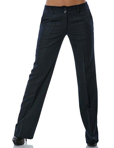 Damen Business Hose Straight Leg (Gerades Bein weitere Farben) No 13572 Navy M / 38