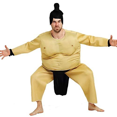 Kostüm Herren Erwachsene Für Sumo Ringer - thematys Sumo-Ringer Kostüm-Set für Herren - perfekt für Cosplay, Karneval & Halloween - Einheitsgröße 160-180cm