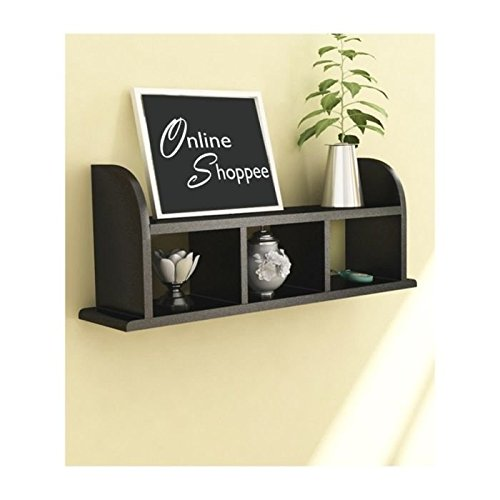 Onlineshoppee Beautiful Black Wooden Wall Shelves/Rack Size (LxBxH-18x5x9.5) Inch