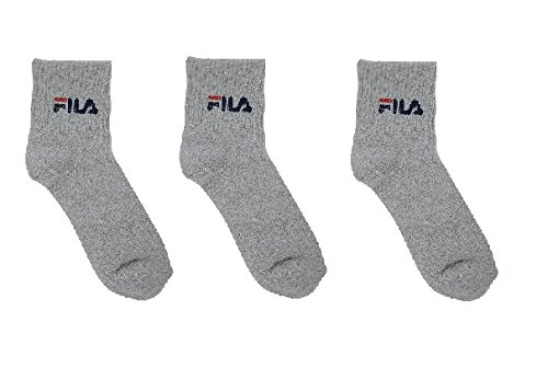 FILA UNISEX GREY 3 PACK ANKLE LENGTH SOCKS ( FREE SIZE )  available at amazon for Rs.507