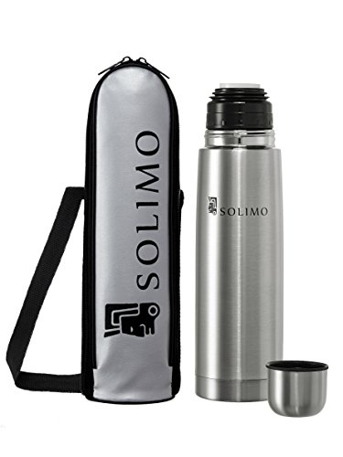 Solimo Stainless Steel Flask, 500ml, Silver