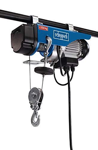 Scheppach elektrischer Seilzug HRS250 (Tragkraft 250 Kg, 530 W, Hubhöhe 12...