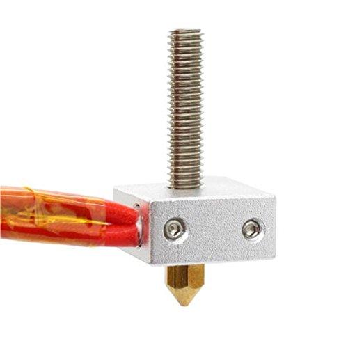 Izokee mk8estrusore di hot end kit, 0,4mm ugello hals, blocco di riscaldamento, 12v 40w riscaldamento, ntc 3950termistore per stampante 3d makerbot reprap