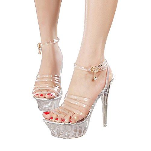 <span class='b_prefix'></span> NIUERTE Women's High Heel Open Toe Buckle Platform Sandals Pumps
