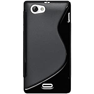 Amzer TPU Hybrid Case Cover for Sony Xperia J ST26i - Black